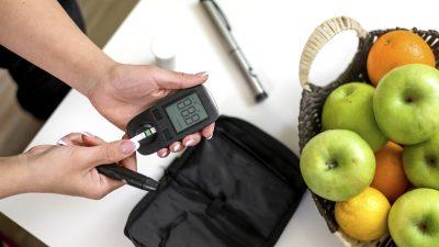 Blutzucker messen und Gewicht halten